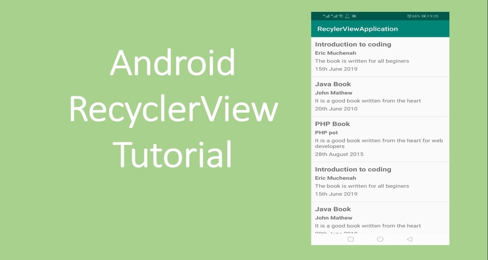 Android RecyclerView with Example for Beginners