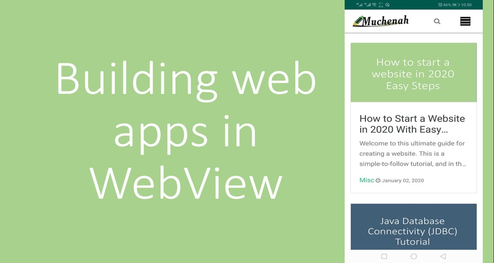 Building web apps in WebView