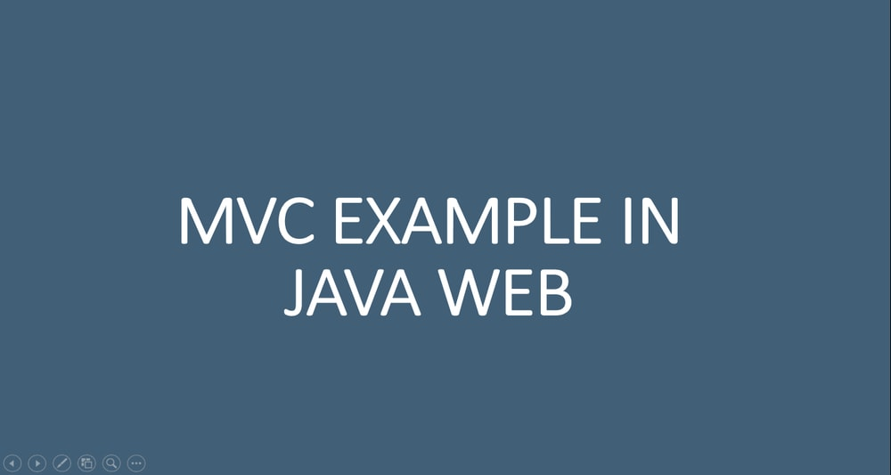 MVC Design Pattern - JSP Example